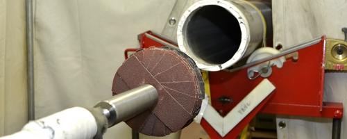 Polissage interne d'une tuyauterie inox